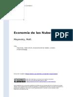 Mayevsky, Matt (2013). Economia de Las Nubes