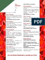 Programa San Ramón. Desarrollo. 2019