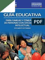 Guía educativa para familias y comunidades de personas con discapacidad intelectual