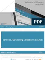 Validation of Cleaning Programs