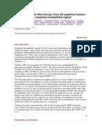 La Detección de La Infección Por Virus Del Papiloma Humano en Pacientes Con Neoplasia Intraepitelial Vaginal
