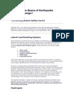 Basics of Earthquake Resistant Design