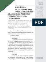 Luta Pelo Sufragio Feminino No Brasil