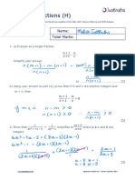 Algebra H Algebraic Fractions v2 SOLUTIONS 1 1