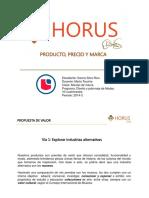Ejemplo de producto y precio