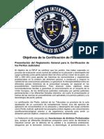 """Objetivos de La Certificación de """"PERITOS JUDICIALES DE LOS TRIBUNALES"""""""
