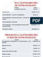 0 Programa Calendario Del Curso de Estratigrafía Agosto 2015