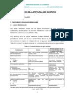 informe de tratamiento de aguas residuales
