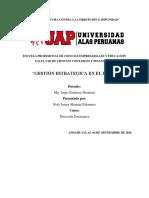 Direccion Estrategica del estado peruano
