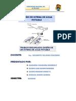 diseño de red de agua potable