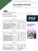 Licenciatura en Ciencias Fiscales _ Pensum de Estudio Ciencias Fiscales