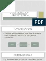 Deshidratación hiponatremica