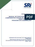 Ficha Técnica de Posición de CFS en Empaques de Cigarrillos