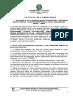 Edital Nº 131.2019 - Processo de Seleção Intérprete de Libras