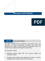 Overview of SAP S4HANA