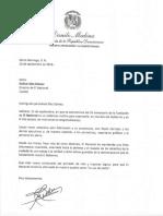 Carta de felicitación del presidente Danilo Medina por 53 aniversario del periódico El Nacional