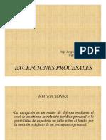 Excepciones Procesales en el proceso civil peruano