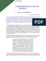 Alcoberro, Ramón. Homo economicus o idiota moral.pdf