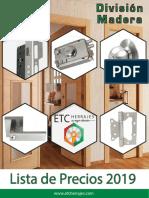 Catalogo Madera 2019 ETC