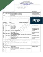 Cronograma 2do Quimestre 18-19