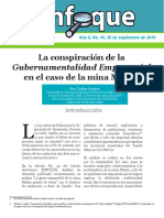 Enfoque2016No.45 La Conspiracion Gubernamentalidad Empresarial MinaMarlin