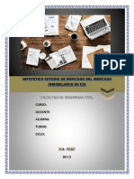 Estudio de Mercado Del Mercado Inmobiliario en Ica