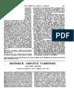 Agio Narbonensis Episcopus, Historia Abbatiae Vabrensis, MLT