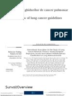 Survol Asupra Ghidurilor de Cancer Pulmonar