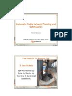 Automatic Radio Network Planning TDMA