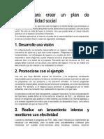 Pasos para crear un plan de responsabilidad social