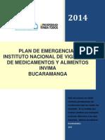 Plan Emergencia Bucaramanga