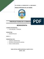 PRINCIPALES TEORÍAS DE LA ADMINISTRACION