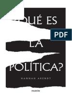 Que es la poltica Hannah Arendt.pdf