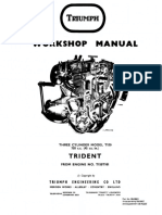 Triumph 69-73 Trident Workshop Manual
