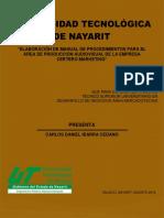Elaboración de Manual de Procedimientos Para El Área de Producción Audiovisual de La Empresa Certero Marketing