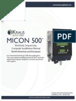 Kraus Micon 500 Manual