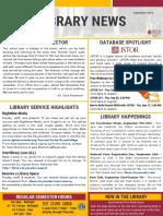 Library News September 2019