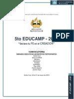 Convocatoria 5º Educamp 2019