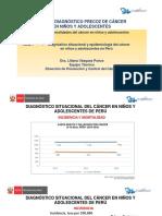 Tema 1. Diagnóstico Situacional y Epidemiología Del Cáncer en Niños y Adolescentes en Perú.