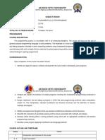 Cc102 - Syllabus_fundamentals of Programming
