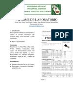 Docsity Informe Sobre El Jfet Donde Se Aprende Su Polarizacion Sus Resultados Segun El Circuito Especifico