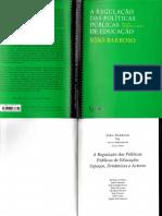 Barroso, J.(2006)(org.) A regulação das politicas publicas em educação_Lisboa_Educa