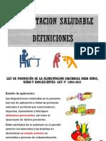 LEY DE ALIMENTACION SALUDABLE