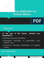 Lesson 1- Sampling Distribution