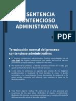La Sentencia Contencioso Administrativa Clase Xiv
