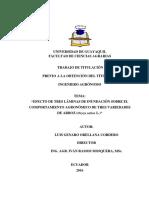 EFECTO DE TRES LÁMINAS DE INUNDACIÓN SOBRE EL COMPORTAMIENTO AGRONÓMICO DE TRES VARIEDADES DE ARROZ