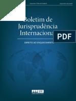Boletim de Jurisprudência Internacional Direito ao Esquecimento