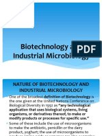 Biotechnology and Industrian Microbiology