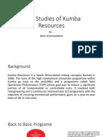 Case Studies of Kumba Resources