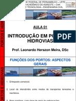 Portos e Hidrovias - Aula 01 (Introdução Em Portos e Hidrovias - 2013)